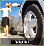 Towing Miami flat tyre